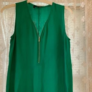 The Kooples 100% Silk Emerald Green top